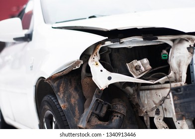 Broken car after an accident