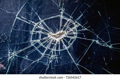 Broken car glass as a background