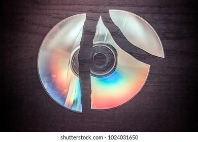 broken CD, DVD