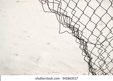 broken chain link fence png. Broken Chain Link Fence With A Snow White Background Png N