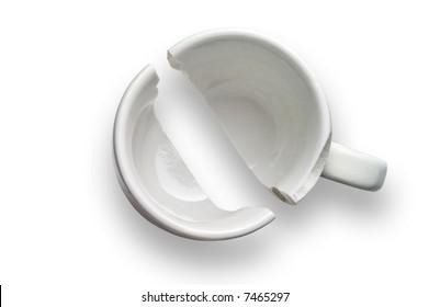 Broken coffee cup