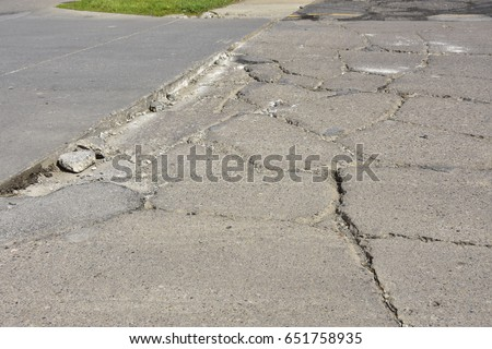 repair broken concrete walkway
