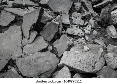 Broken concrete texture background