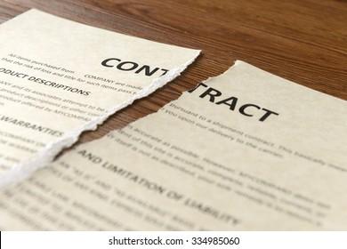 broken contract