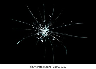 broken cracked glass