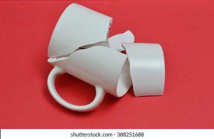 broken cup pieces