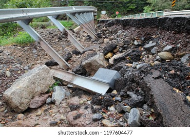 Broken And Damaged Road