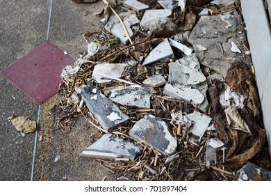 Broken debris