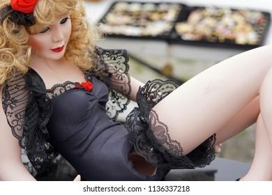 Broken doll wearing lingerie