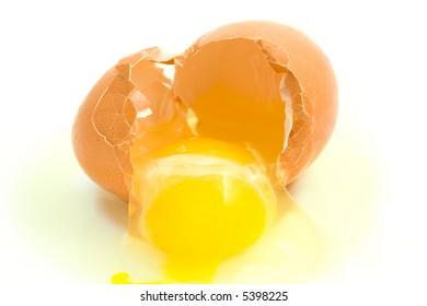 Broken egg.