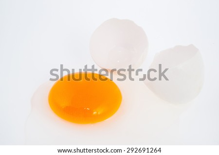 Broken Egg Isolated On White Background Stock Photo Edit