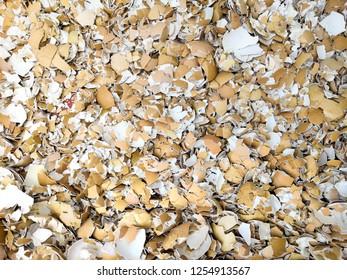 Broken Egg Shells ,Crushed egg shells. Abstract texture background.Cemetery eggshell.crack eggshell.