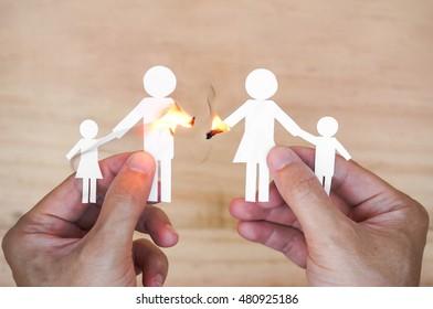 Broken family concept / divorce