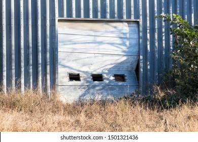 Broken garage door, cannot be used anymore