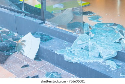 broken glass after bomb