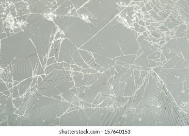 Broken glass. Close up studio shot