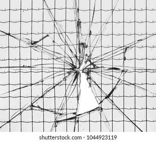 Broken glass close-up
