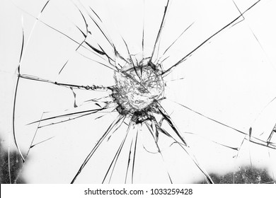 Broken glass on bright background, cracked glass effect for design element