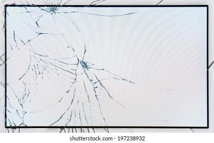 Broken glass on LCD screen