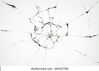Broken glass on white background ,photo hi resolution  texture backdrop object design