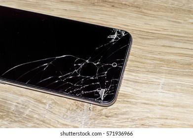 broken glass smartphone cracked screen