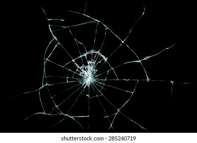 Broken glass texture. Isolated realistic cracked glass effect, concept element.
