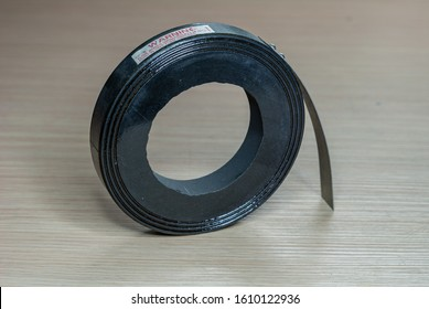 Broken graphite disc, used in the helium MRI quench pipe, to protect the magnet