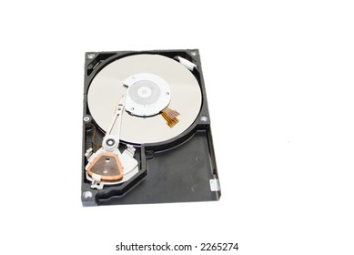 Broken Harddrive isolated over a white background