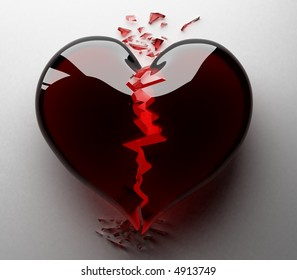 The broken heart  3d