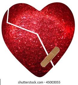 broken heart - bandaid