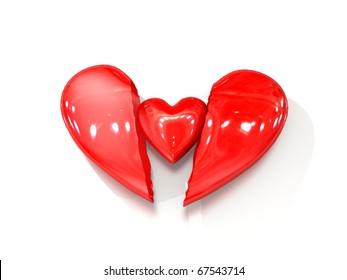 Broken Heart with a new little heart inside