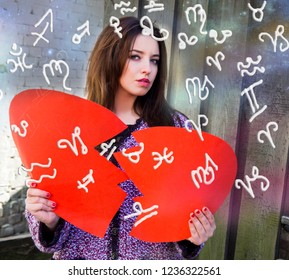 The broken heart and zodiac signs
