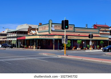BROKEN HILL, NSW, AUSTRALIA - NOVEMBER 10: Heritage buildings in the frontier city in outback of New South Wales, on November 10, 2017 in Broken Hill, Australia