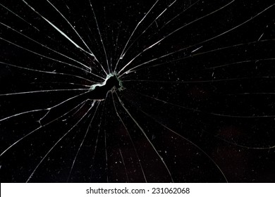 broken horizontal glass black background