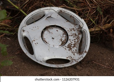 Broken Hubcap in Mud - Olympos, Turkey