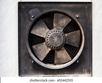 Broken industrial exhaust fan (HDR image)