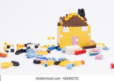 Broken lego house