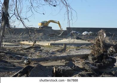 Broken Levee - 9th Ward New Orleans