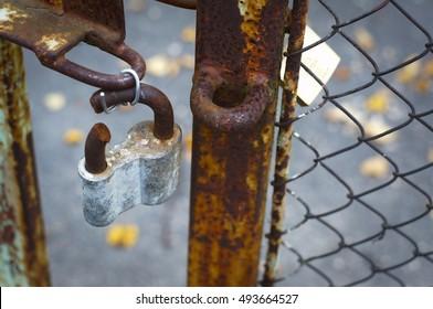 The broken lock