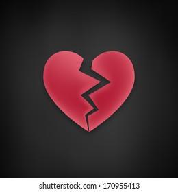 Broken Black Heart Images Stock Photos Vectors Shutterstock