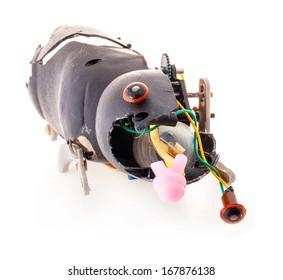 Broken mechanical toy
