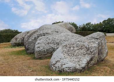 Broken Menhir of Er Grah - the largest menhir erected in the Neolithic era, Locmariaquer, Brittany, France