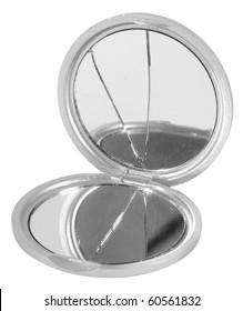 Broken mirror. Isolated