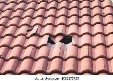 broken monier tiles roof
