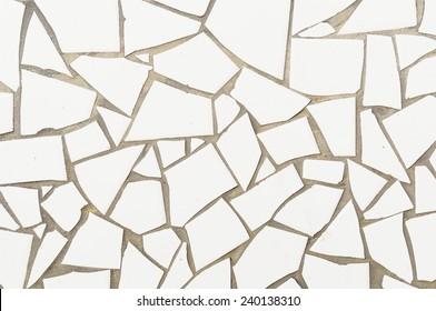 Broken mosaic tiles background