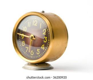 A broken old alarm clock