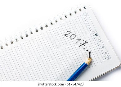 broken pencil and a notebook in 2017