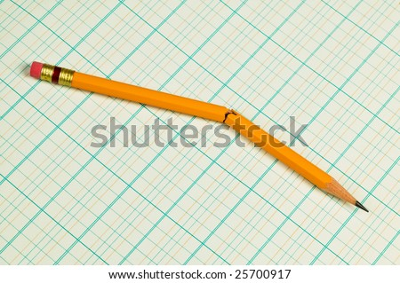 broken pencil on accounting ledger paper stock photo edit now