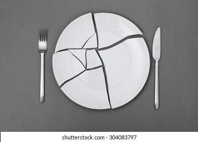broken plate - diet
