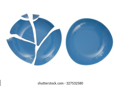 broken plate and  whole plate
